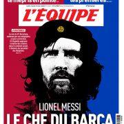 L'Equipe e un'altra prima pagina iconica: Messi diventa Che Guevara